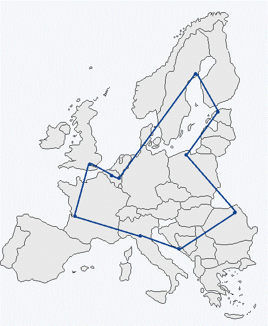 Map of freight trails