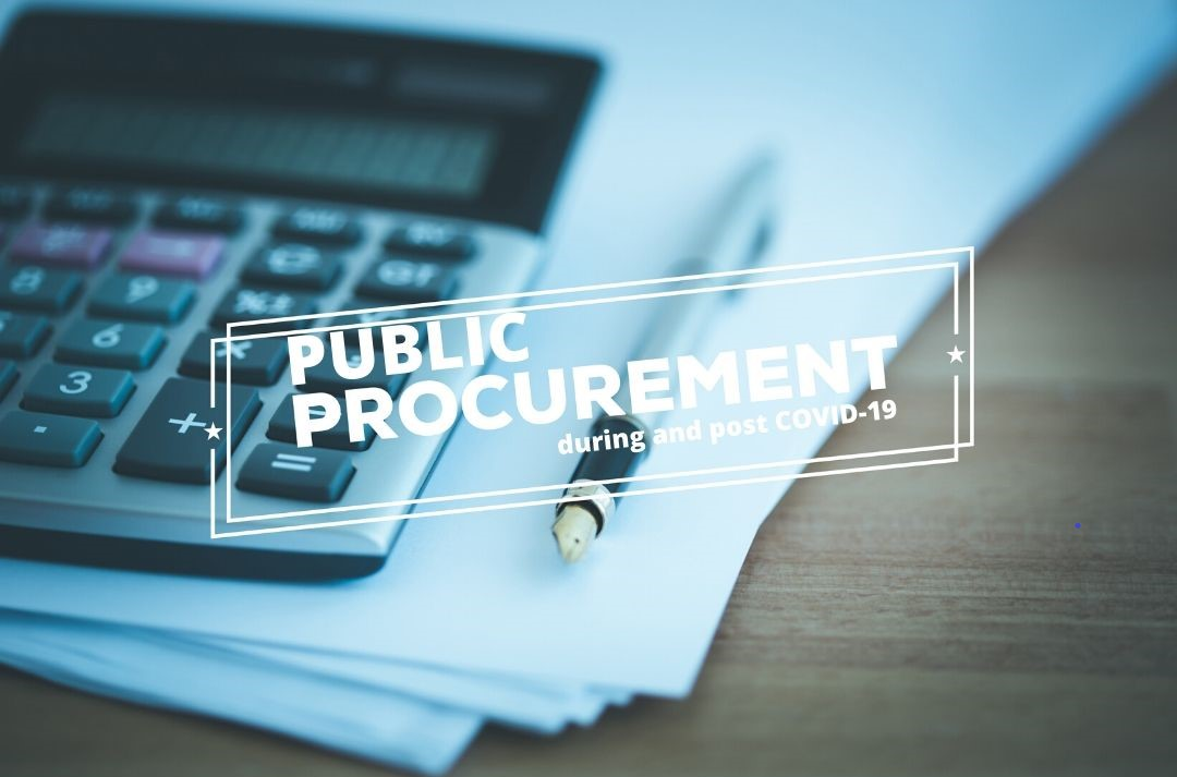 Public Procurement during and post COVID-19 photo with calculator