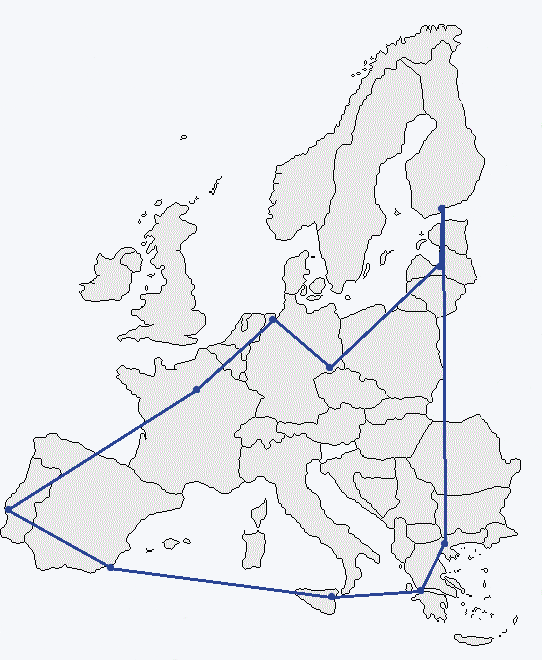 Map of Arrival cities