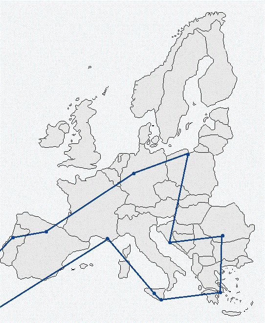 Map of CityMobilNet