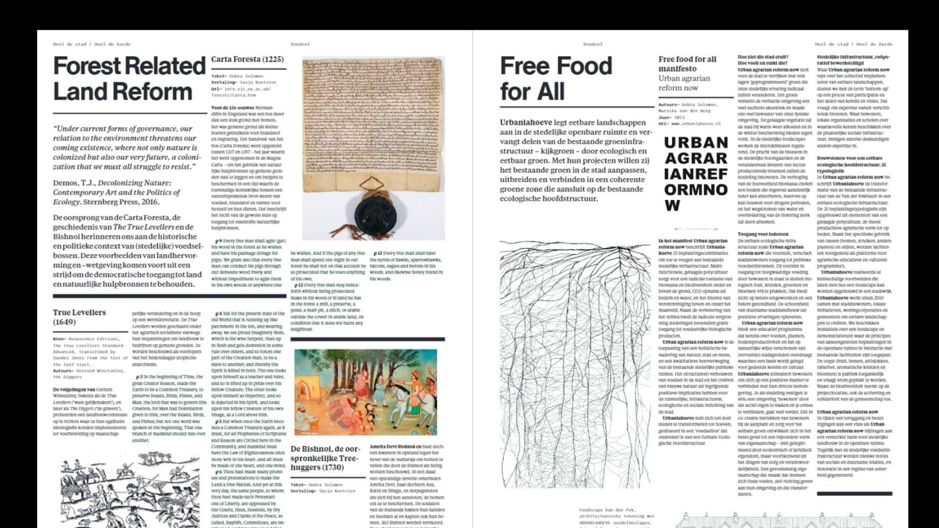 Whole Earth Catalog Cover / Heel de stad Heel de Aarde spread
