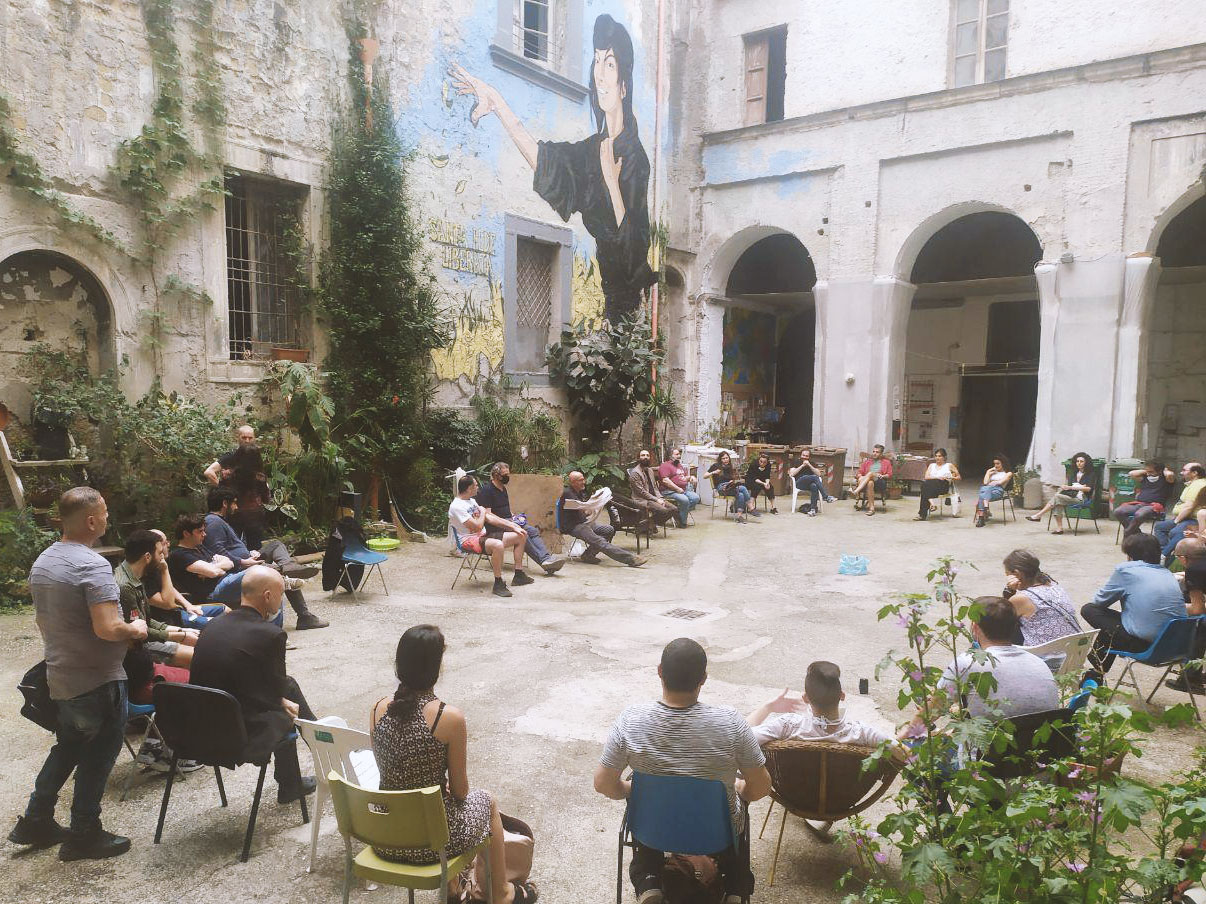 Santa Fede Liberata, post-covid assembly, Napoli, june 2020