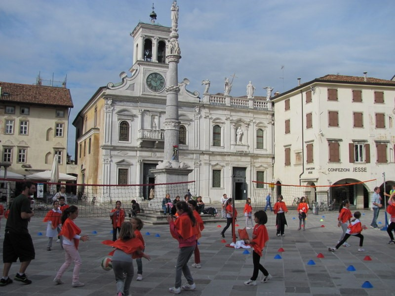 People playing in Udine