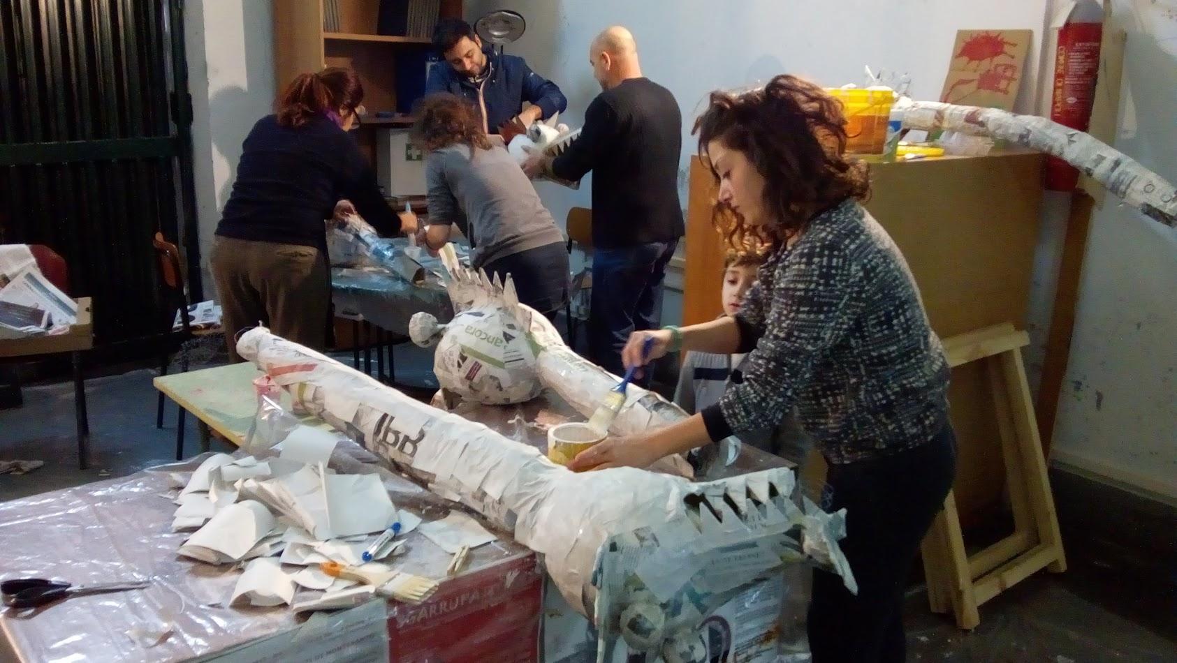 Carnival workshop at Sgarrupato, Naples, February 3, 2018