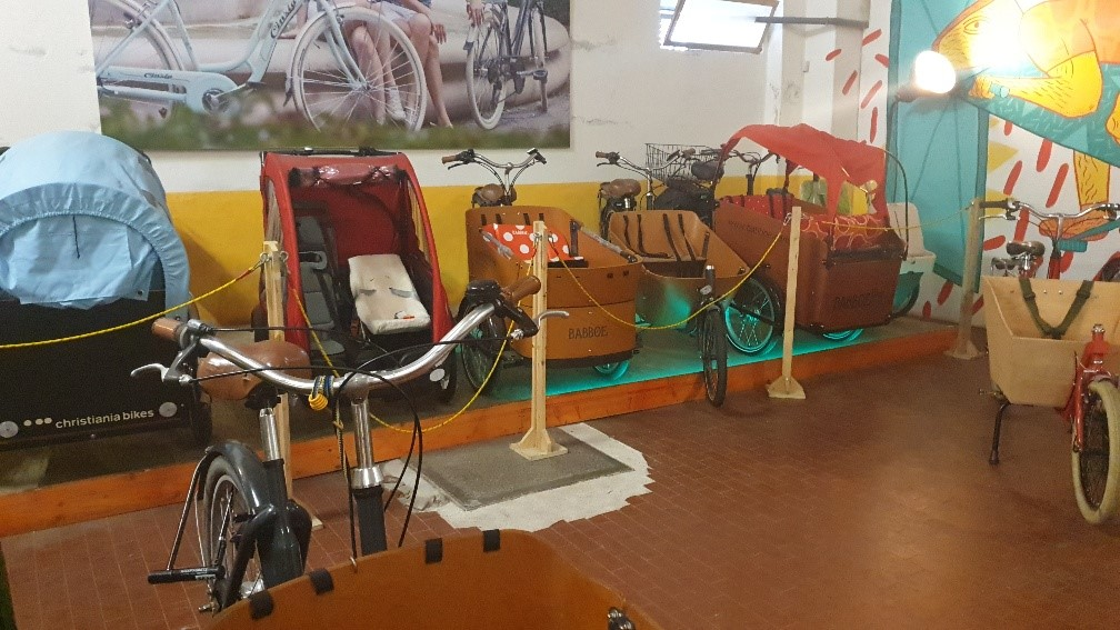 Bike exibit - One of the elements of the DYNAMO Project in Bologna