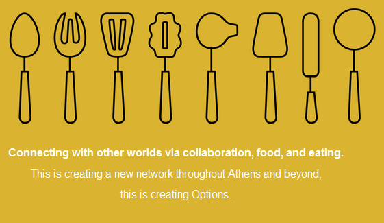 Options FoodLab. Connecting with other worlds via collaboration, food, and eating.