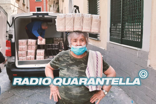 banner to launch a radio programme with interviews from popular neighborhoods during quarantine
