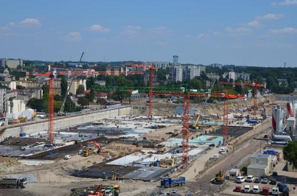 Lodz construction site