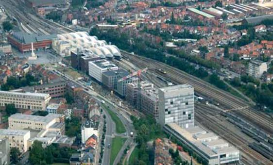 Railway Offices Aerial view