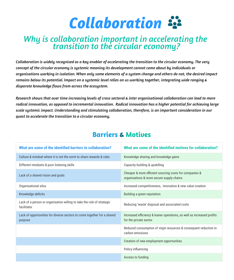 Collaboration - Resourceful Cities
