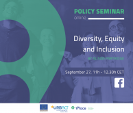 Policy Seminar on Diversity, equity and inclusion