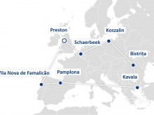 Map of transfer cities