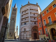 Parma Battistero and Cathedral