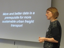 Freight TAILS hears from the experts - Sara Verlinde from Vrije Universiteit Brussel, MOBI research centre.