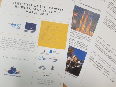 "NEWSLETTER OF THE TRANSFER NETWORK ""ACTive NGOs"" MARCH,2019"