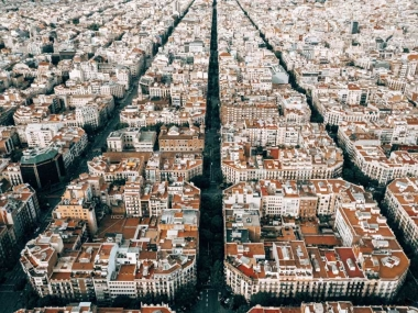 Barcelona's aerial view