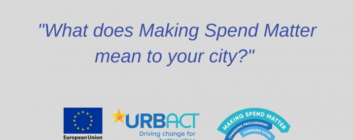 What does Making Spend Matter mean to your city video, initial slide.