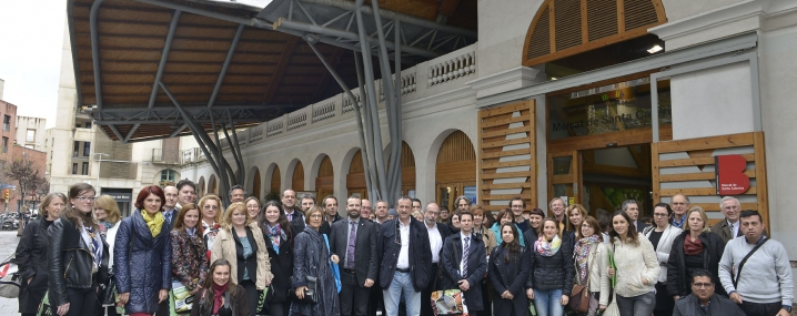 Group photograph of URBACT Markets partners and guests are the final conference in Barcelona