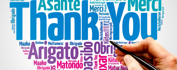 Thank You in various languages