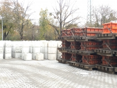 Production of recycled concrete at the Bayernkaserne, Munich